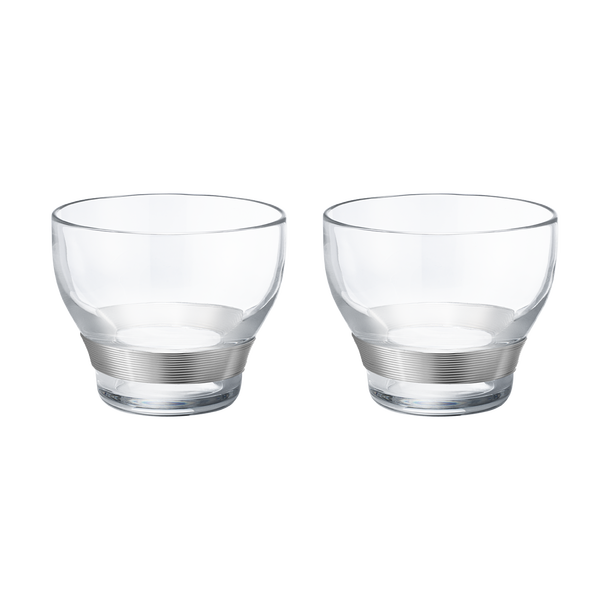 Koppel Crystal Glasses with Silver Wire