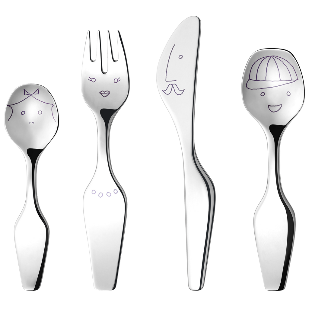 Alfredo The Twist Family, 4 Pieces Cutlery Set