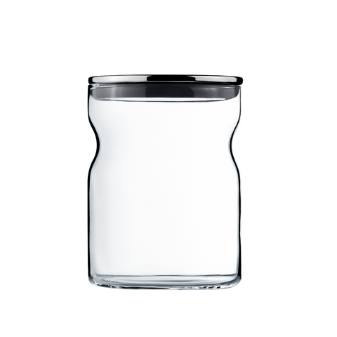 Alfredo Container Glass 0,75L ?100 Stainless Steel Lid