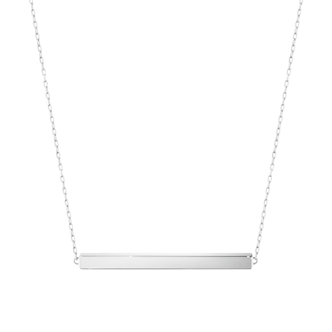 Aria Necklace - Bar, Sterling Silver