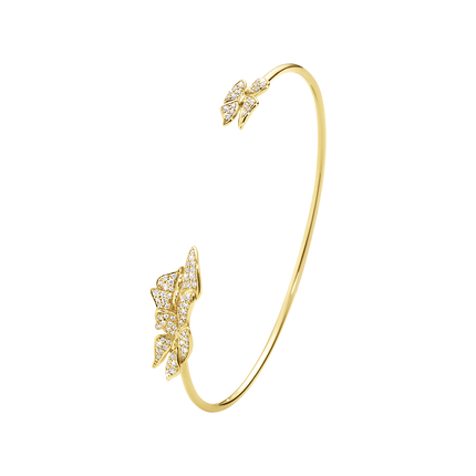 Askill Bangle - 18 Kt. Yellow Gold With Brilliant Cut Diamonds S