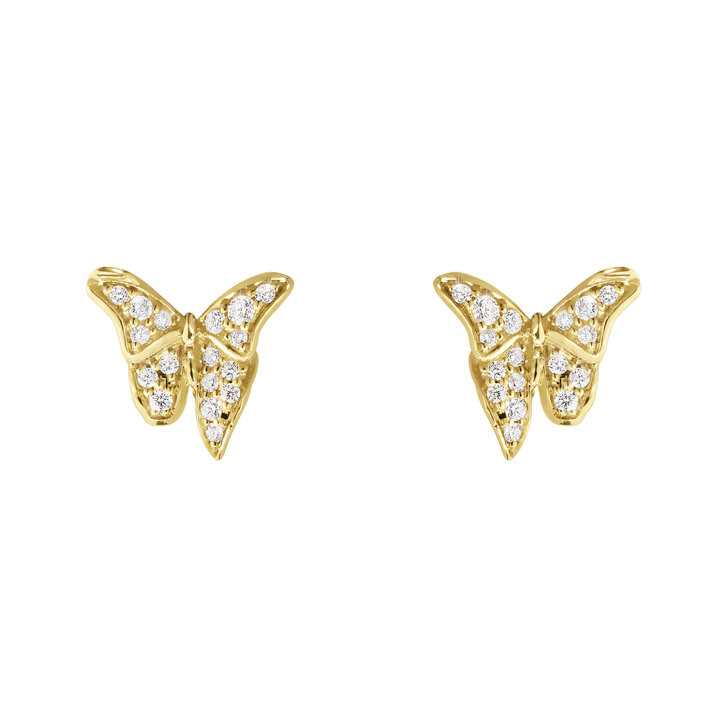 Askill Earrings - 18 Kt. Yellow Gold With Brilliant Cut Diamonds