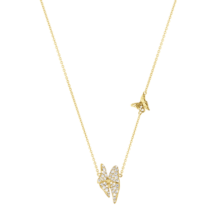 Askill Pendant - 18 Kt. Yellow Gold With Brilliant Cut Diamonds