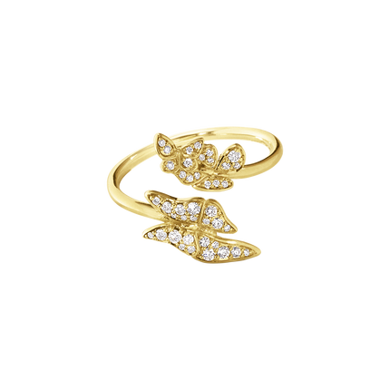 Askill Ring - 18 Kt. Yellow Gold With Brilliant Cut Diamonds 53