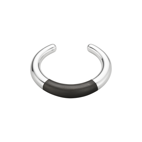 AURA Bangle - Sterling Silver With Ebony