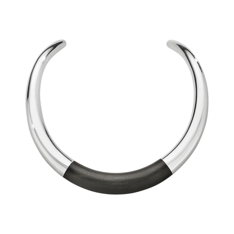 AURA Neckring - Sterling Silver With Ebony