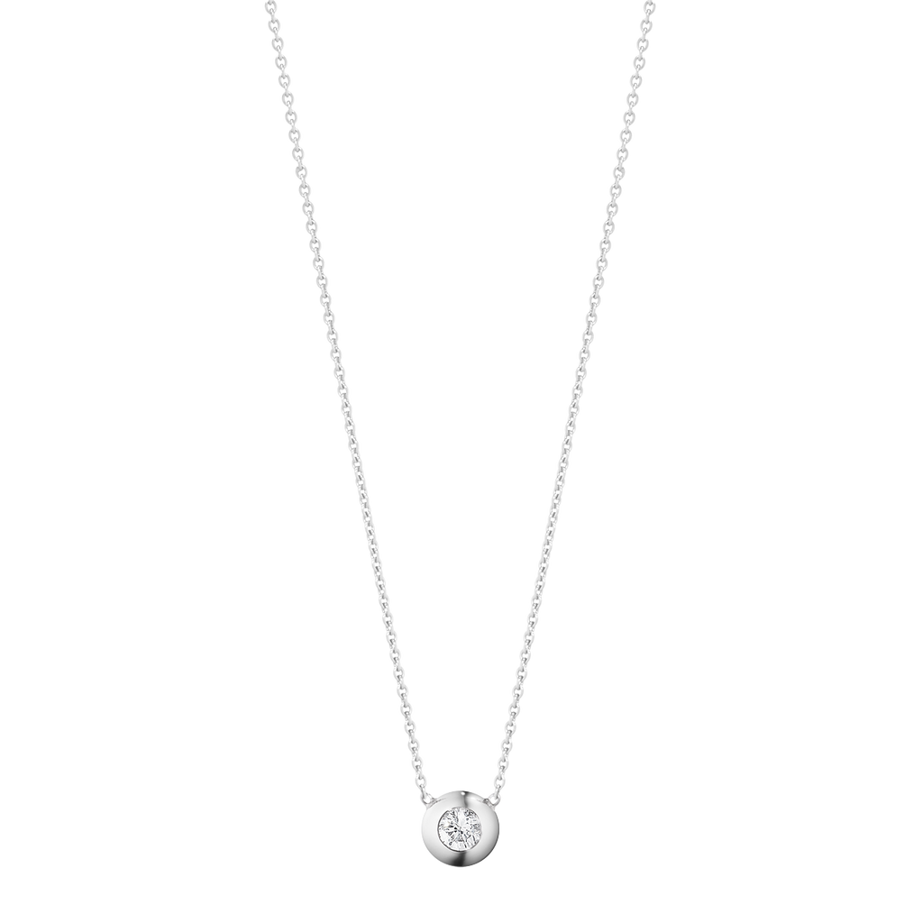 Aurora Pendant - 18 Kt. White Gold With Brilliant Cut Diamond