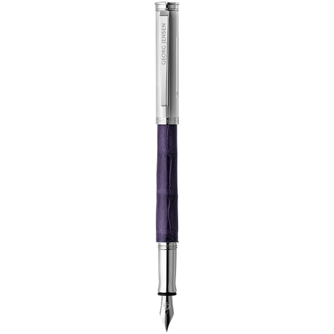 Bespoke Alligator Fountain Pen, Purple