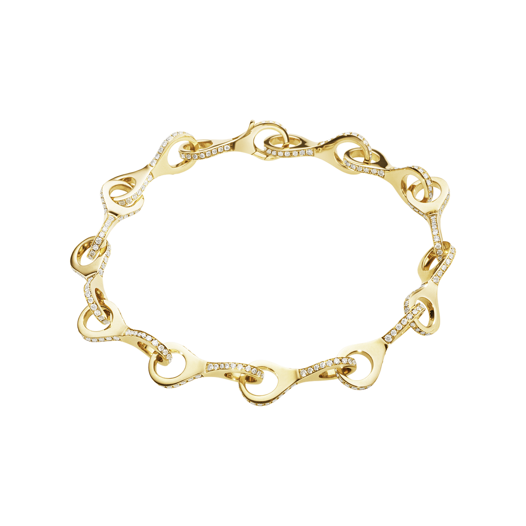 Dune Bracelet - 18 Kt. Yellow Gold With Brilliant Cut Diamonds