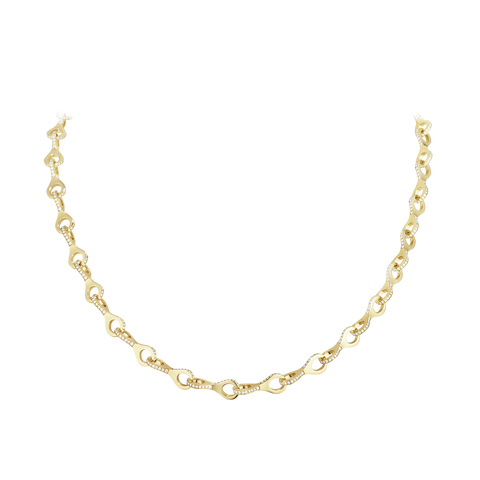 Dune Necklace - 18 Kt. Yellow Gold With Brilliant Cut Diamonds