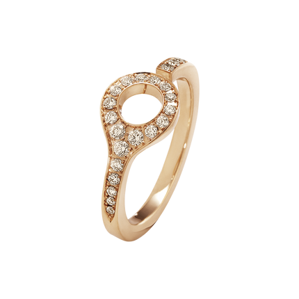 Dune Ring - 18 Kt. Rose Gold With Cinnamon Diamonds 55