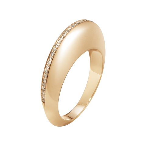 Dune Ring - 18 Kt. Rose Gold With Cinnamon Diamonds 53