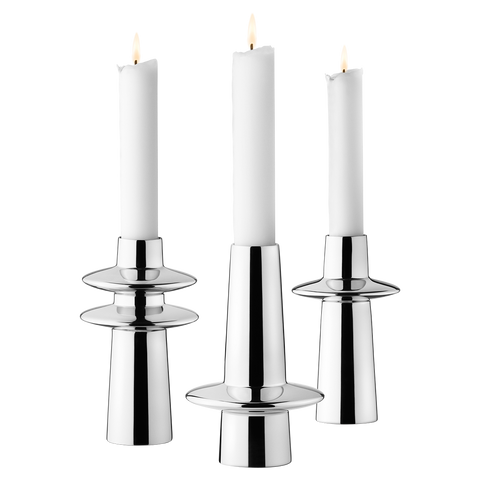 Ellipse Candleholders, 3 Pieces