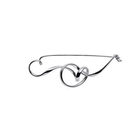Forget-Me-Knot Brooch - Sterling Silver