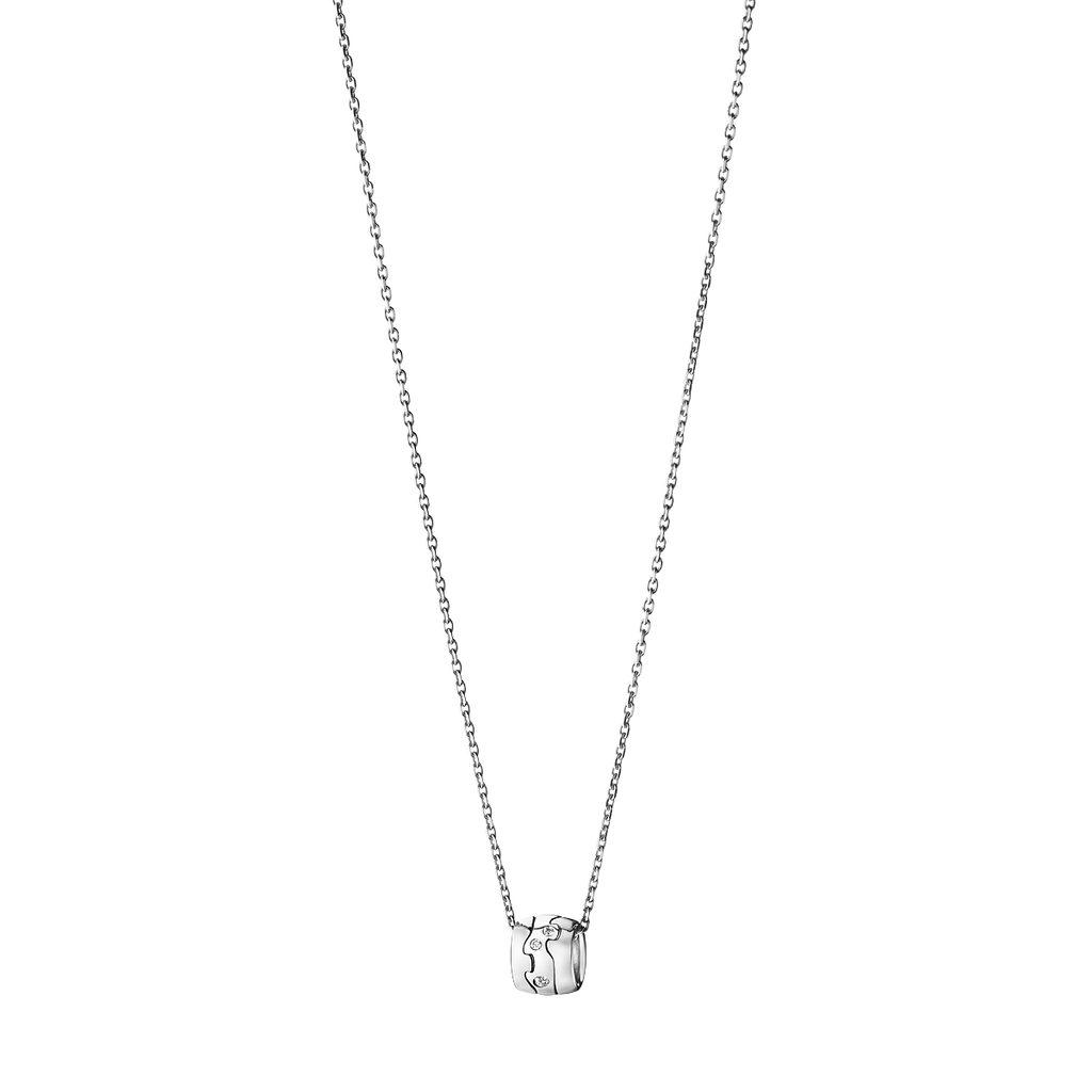 Fusion Pendant - 18 Kt. White Gold With Brilliant Cut Diamond