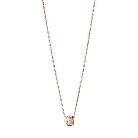 Fusion Pendant - 18 Kt. Yellow, White And Rose Gold