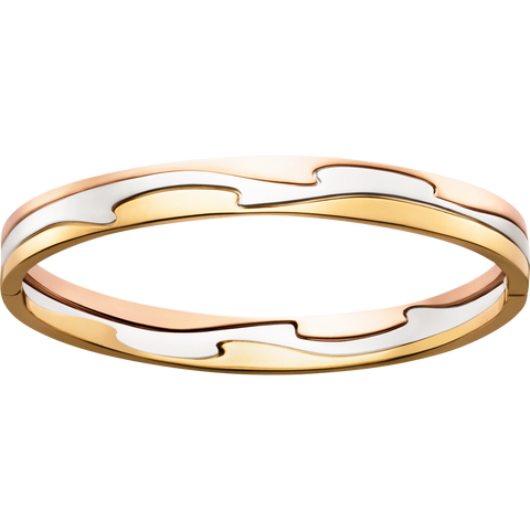 Fusion Bangle - 18 Kt. Yellow, White And Rose Gold