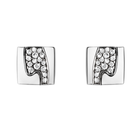 Fusion Earrings - 18 Kt. White Gold With Paví© Set Brilliants
