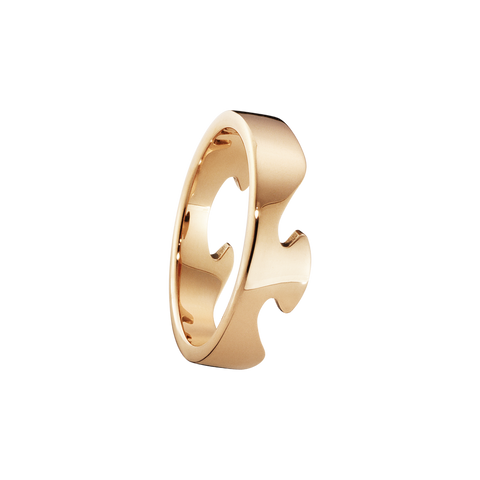 Fusion End Ring - 18 Kt. Rose Gold 52