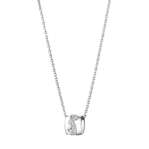 Fusion Pendant - 18 Kt. White Gold With Paví© Set Brilliants