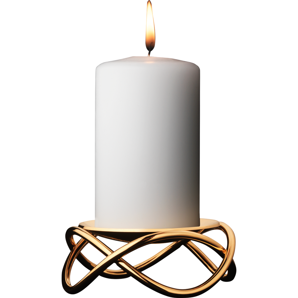 Glow Candleholder (24 Kt. Gold Plated Stainless Steel)