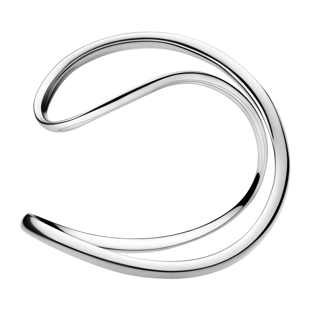 Infinity Bangle - Sterling Silver M