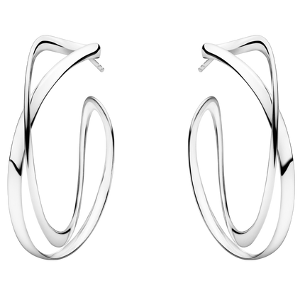Infinity Earhoops - Sterling Silver, Large