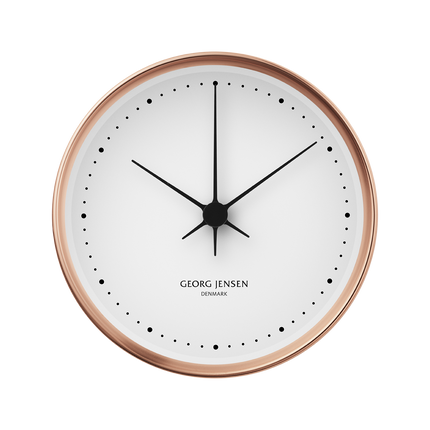 Koppel 10 Cm Wall Clock, Copper With White Dial