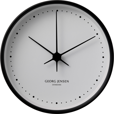 Koppel 15 Cm Wall Clock, Black Stainless Steel With White Dial