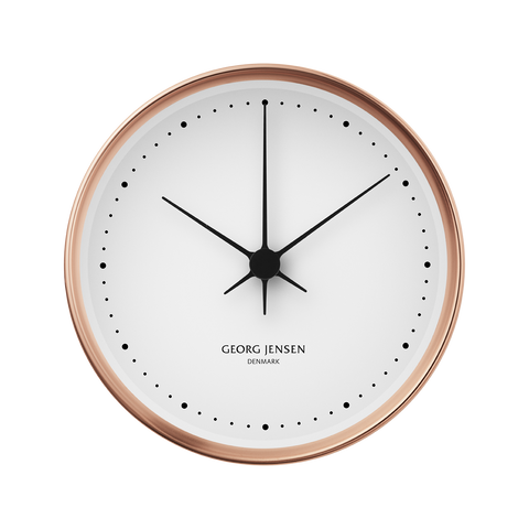 Koppel 22 Cm Wall Clock, Copper With White Dial