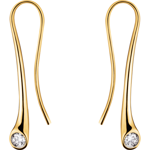 Magic Earrings - 18 Kt. Yellow Gold With Brilliant Cut Diamonds