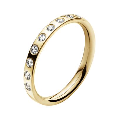 Magic Ring - 18 Kt. Gold With Brilliants 57