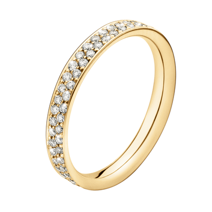 Magic Ring - 18 Kt. Gold With Paví© Set Brilliants 56