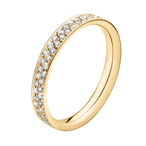 Magic Ring - 18 Kt. Gold With Pavé Set Brilliants 56