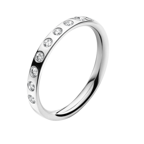 Magic Ring - 18 Kt. White Gold With Brilliants 58