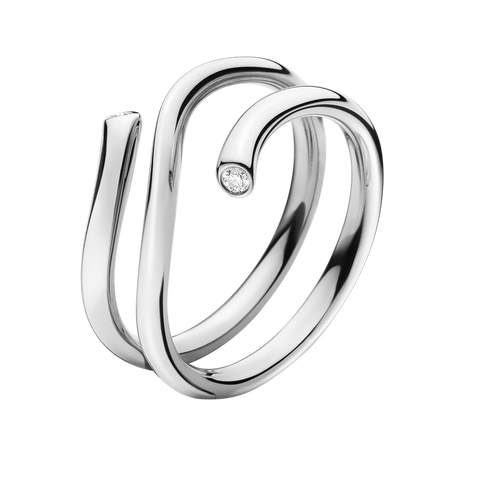 Magic Ring - 18 Kt. White Gold With Brilliants 55