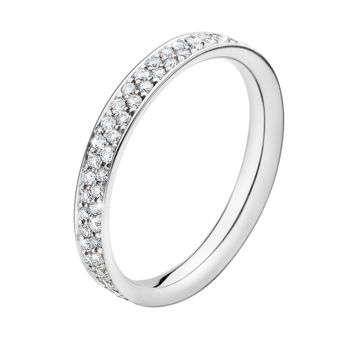 Magic Ring - 18 Kt. White Gold With Pavé Set Brilliants 54