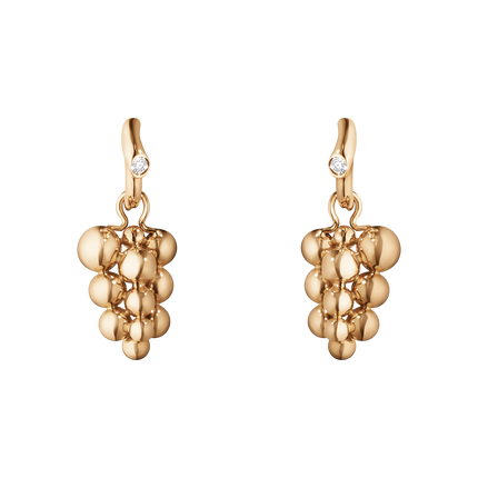 Moonlight Grapes Earrings - 18 Kt. Rose Gold With Brilliant Cut Diamonds