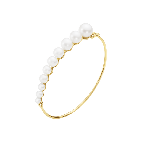 Neva Bangle - 18 Kt. Yellow Gold With Pearls S