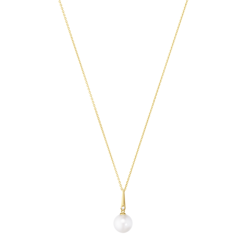 Neva Pendant - 18 Kt. Yellow Gold With Pearl And Brilliant Cut Diamond