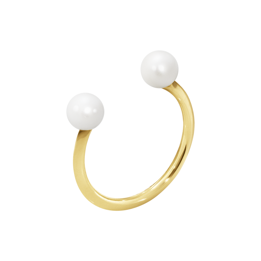 Neva Ring - 18 Kt. Yellow Gold With Pearls 56