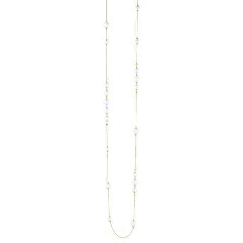 Neva Sautoir - 18 Kt. Yellow Gold With Pearls
