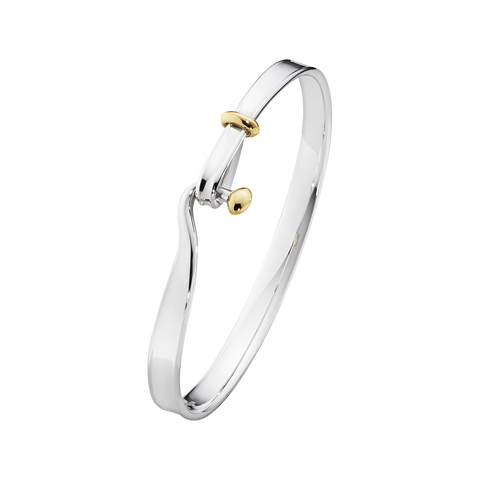 Torun Bangle - Sterling Silver And 18 Kt. Yellow Gold S