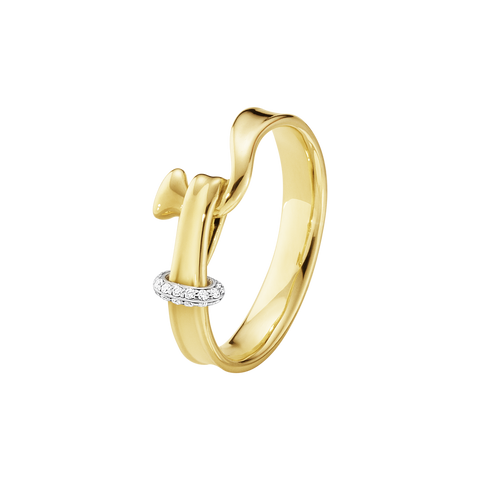 Torun Ring - 18 Kt. Yellow Gold With Brilliant Cut Diamonds