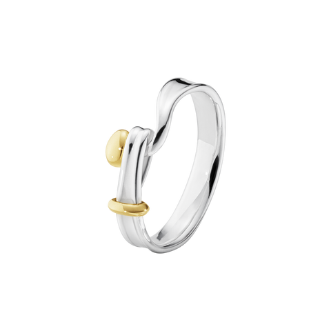 Torun Ring - Sterling Silver And 18 Kt. Yellow Gold 54