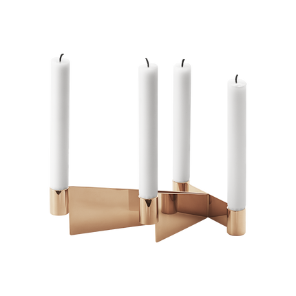 Urkiola Candleholder, Stainless Steel And Pvd