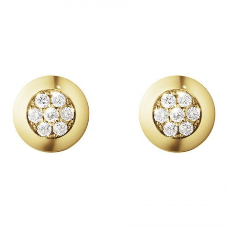 Aurora Earrings - 18 Kt. Yellow Gold With Diamond Pave