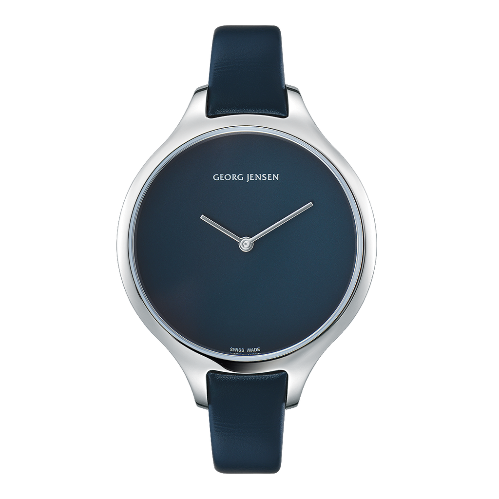 Georg Jensen Concave watch, blue