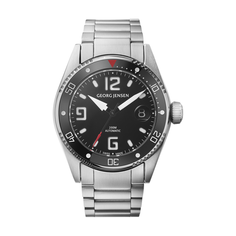Delta Dive - 42 mm, Automatic Mechanical, Black Dial, Steel Bracelet