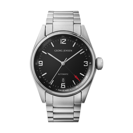 Georg Jensen Delta watch, GMT, steel bracelet